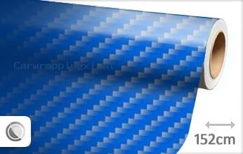 Blauw 2D carbon car wrap folie