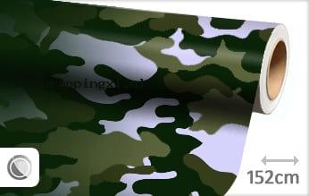Camouflage groen car wrap folie