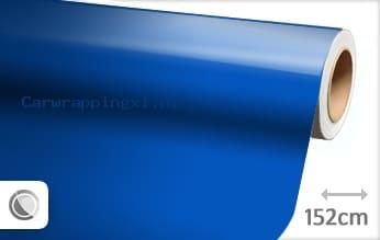 Glans blauw car wrap folie