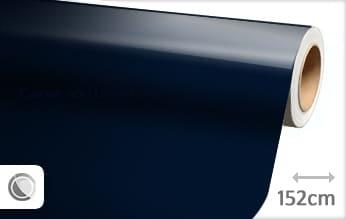 Glans donkerblauw car wrap folie