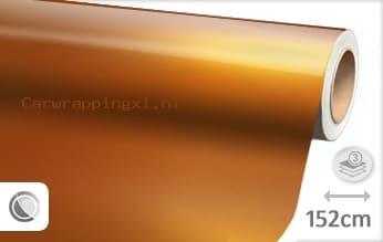 Glans metallic oranje car wrap folie