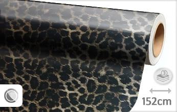 Luipaard print car wrap folie