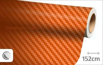 Oranje 3D carbon car wrap folie