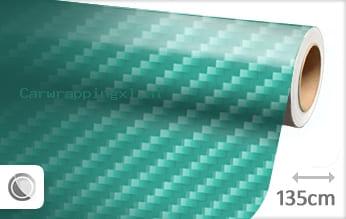 Turquoise 2D carbon car wrap folie