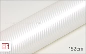 Hexis HX30CABPEB Carbon Pearl White Gloss car wrap folie