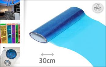 Blauw transparant car wrap folie