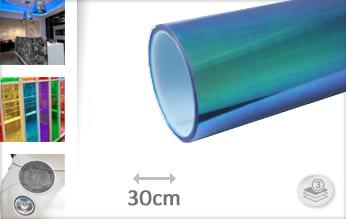 Flipflop blauw transparant car wrap folie