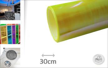 Flipflop geel transparant car wrap folie