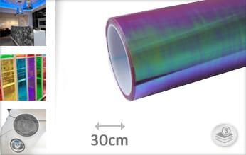 Flipflop paars transparant car wrap folie