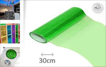 Groen transparant car wrap folie