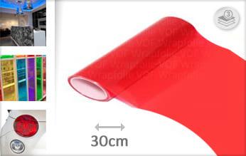 Rood transparant car wrap folie