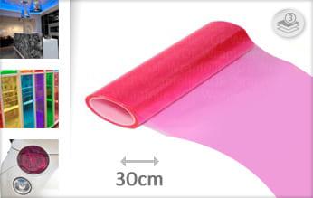 Roze transparant car wrap folie
